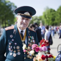 WWII veteran, Moscow, Russia